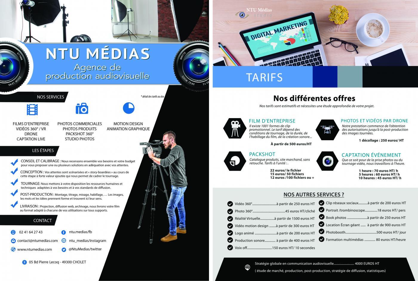 Nouvelle plaquette de NTU Médias